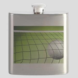 Green Volleyball Net Flask