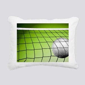 Green Volleyball Net Rectangular Canvas Pillow