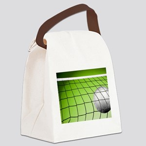 Green Volleyball Net Canvas Lunch Bag