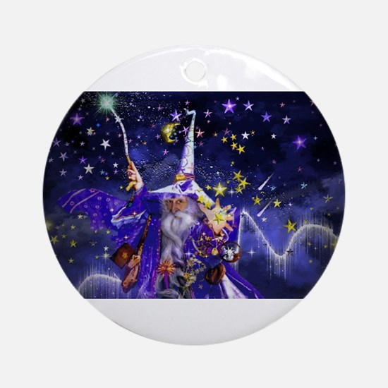 Merlin the Web Wizard Ornament (Round)