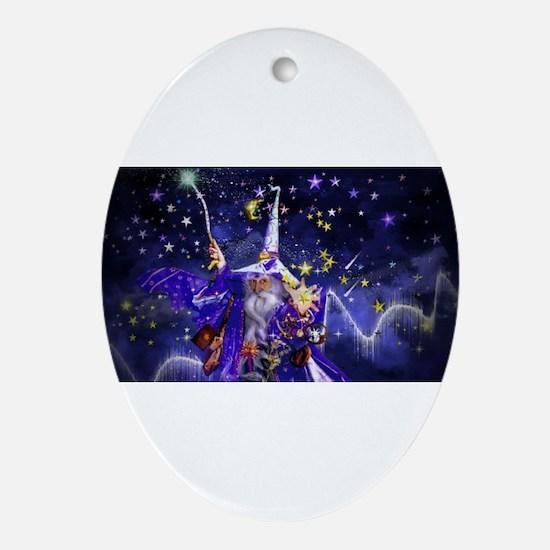 Merlin the Web Wizard Ornament (Oval)