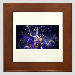 Merlin the Web Wizard Framed Tile