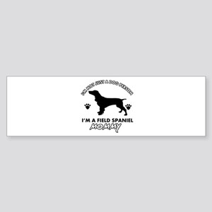 Field Spaniel dog breed designs Sticker (Bumper)