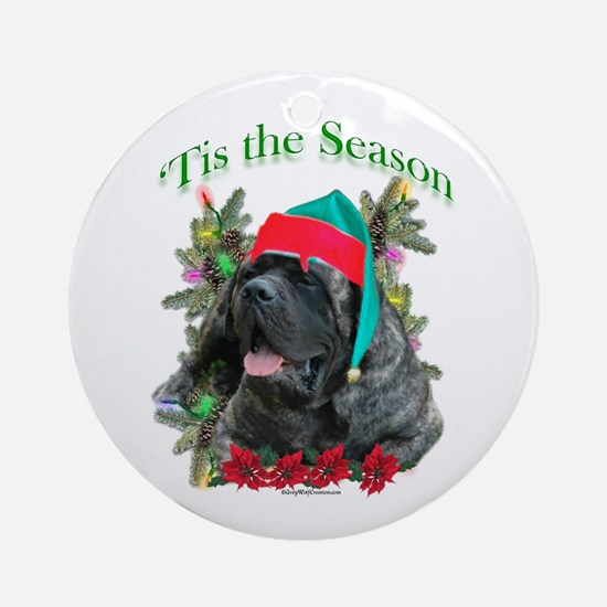 Brindle 'Tis Ornament (Round)