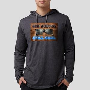 Old School Still Cool Mens Hooded Shirt