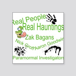 "Ghost Adventures Square Sticker 3"" x 3"""