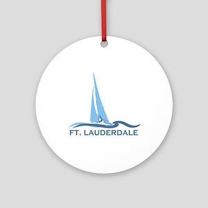 Fort Lauderdale - Sailing Design Ornament (Round)