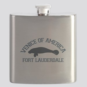 Fort Lauderdale - Manatee Design. Flask