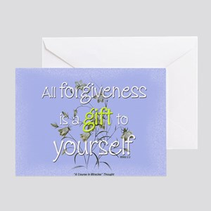 ACIM Blank Greeting Card: Forgiveness is a gift