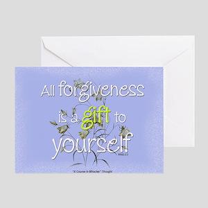 ACIM Blank Greeting Card: Forgiveness is a gift