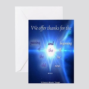 ACIM Blank Greeting Card: We offer thanks