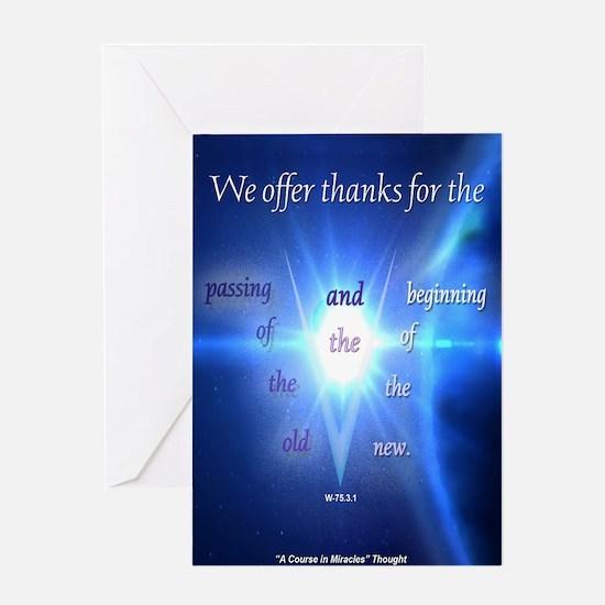 ACIM Blank Greeting Card: We offer thanks
