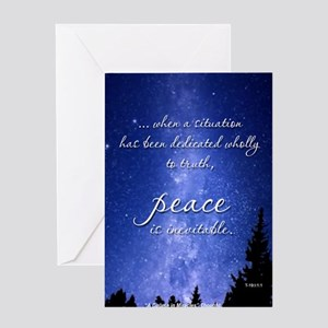 ACIM Blank Greeting Card: Peace is inevitable