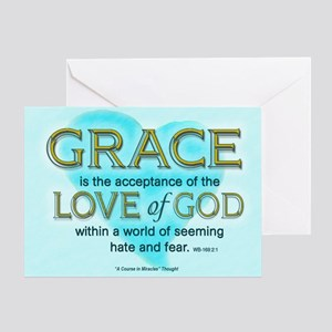 ACIM Blank Greeting Card: Grace is the acceptance