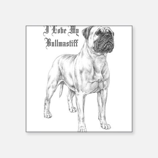 THE Bullmastiff Rectangle Sticker