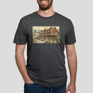 Paradise Inn Mt Rainier Nat Mens Tri-blend T-Shirt