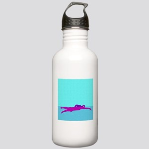 PAINTED PURPLE SWIMMER Stainless Water Bottle 1.0L