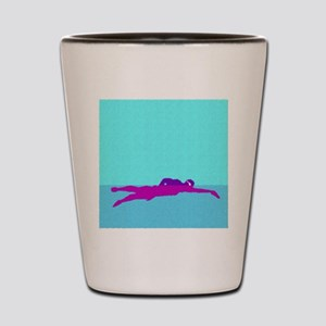 PAINTED PURPLE SWIMMER Shot Glass