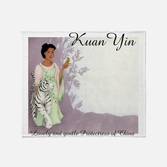 Kuan Yin Throw Blanket