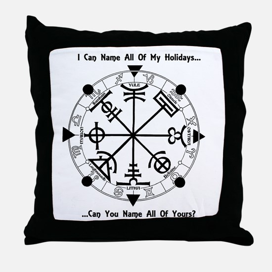 Pagan Wheel of the Year T-Shirt Throw Pillow