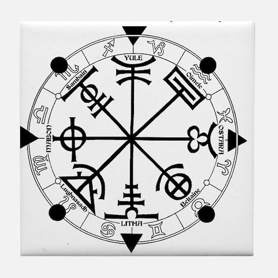 Pagan Wheel of the Year T-Shirt Tile Coaster