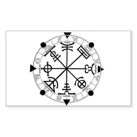 Pagan Wheel of the Year T-Shirt Sticker