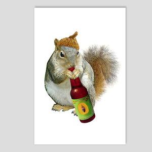 Squirrel Acorn Beer Postcards (Package of 8)