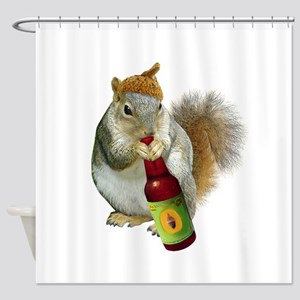 Squirrel Acorn Beer Shower Curtain