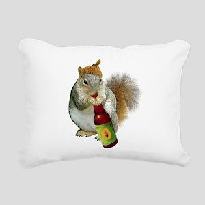 Squirrel Acorn Beer Rectangular Canvas Pillow
