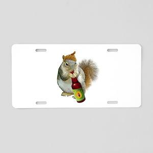 Squirrel Acorn Beer Aluminum License Plate