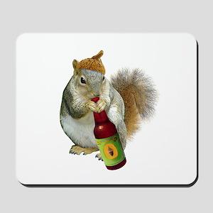 Squirrel Acorn Beer Mousepad