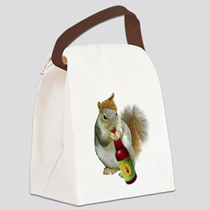 Squirrel Acorn Beer Canvas Lunch Bag