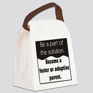 Foster Care and Adoption Canvas Lunch Bag
