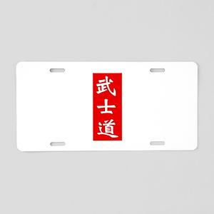Samurai Bushido Kanji Red Aluminum License Plate