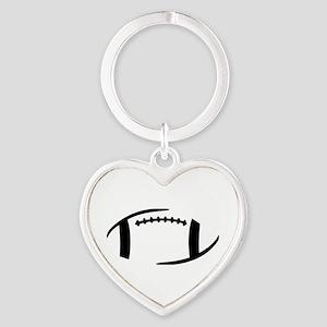 Football Heart Keychain