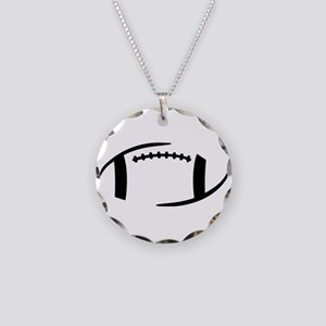 Football Necklace Circle Charm