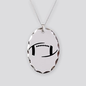 Football Necklace Oval Charm