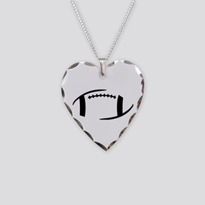 Football Necklace Heart Charm