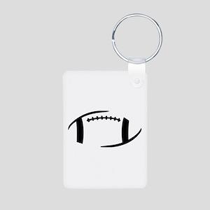 Football Aluminum Photo Keychain