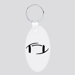 Football Aluminum Oval Keychain