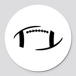 Football Round Car Magnet