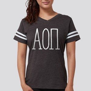 Alpha Omicron Pi Letters Womens Football Shirt