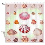 Vintage Seashell Shower Curtain