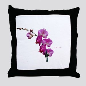 Orchid Spray White copy Throw Pillow