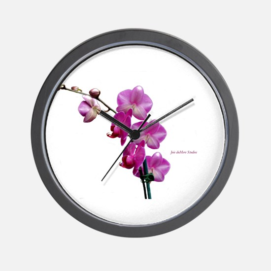 Orchid Spray White copy Wall Clock