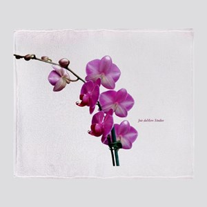 Orchid Spray White copy Throw Blanket