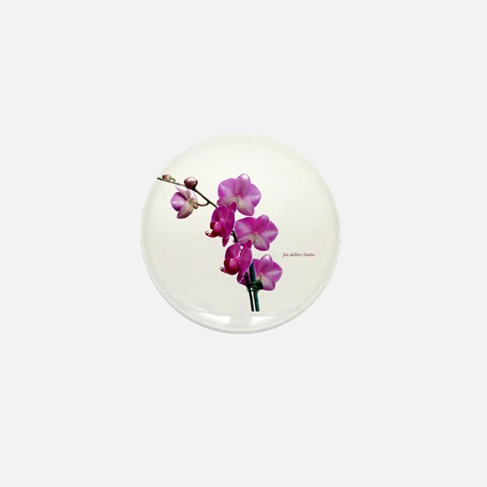 Orchid Spray White copy Mini Button