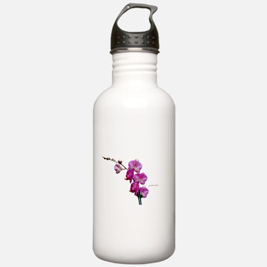 Orchid Spray White copy Water Bottle