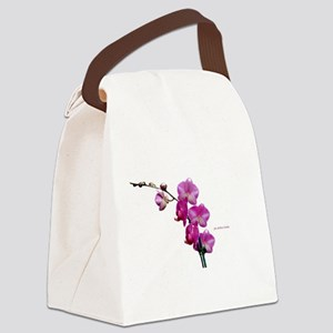 Orchid Spray White copy Canvas Lunch Bag