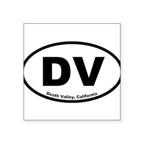 Death Valley Oval Sticker